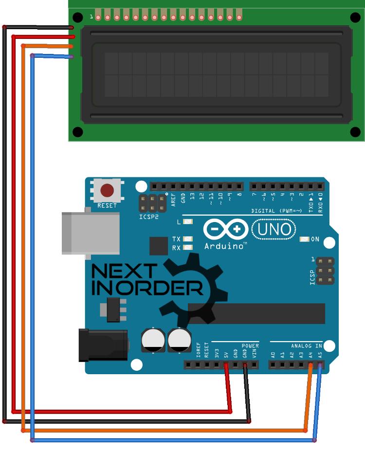 Arduino LCD aansluiting
